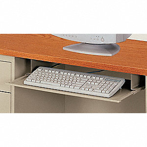 Keyboard Drawer,23 x 3 x 14 In,Putty