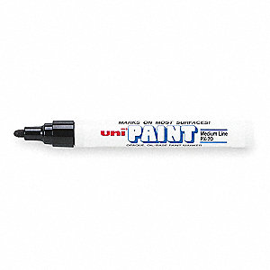 Permanent Paint Marker, Paint-Based, Blacks Color Family, Medium Tip, 12 PK
