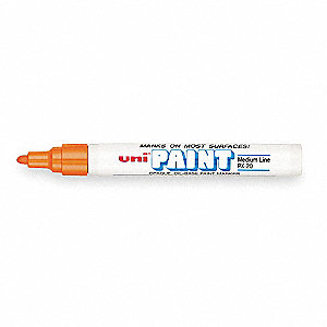 Paint Marker, Paint-Based, Oranges Color Family, Medium Tip, 12 PK