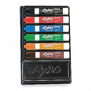 DRY ERASE MARKER SET,LOW ODOR