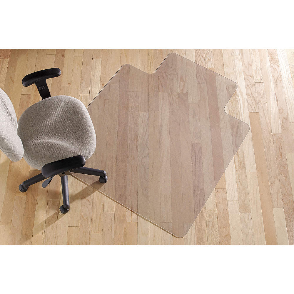 Sanford Wide Lip Chair Mat Clear For Laminate Wood Tile