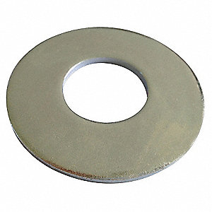 "1-1/2""x3-1/2"" O.D., Flat Washer, Stainless Steel, 18-8, Plain, PK10"