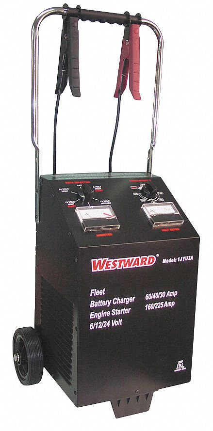 WESTWARD Manual Battery Charger, Boosting, Charging, AGM, Lead Acid on