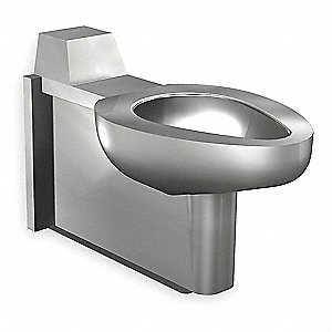 Floor Mount Without Lavatory Toilet 1-1/2 Connection, Satin