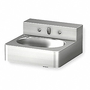 Stainless Steel Wall Penal Bathroom Sink With Faucet 9 1 2 X