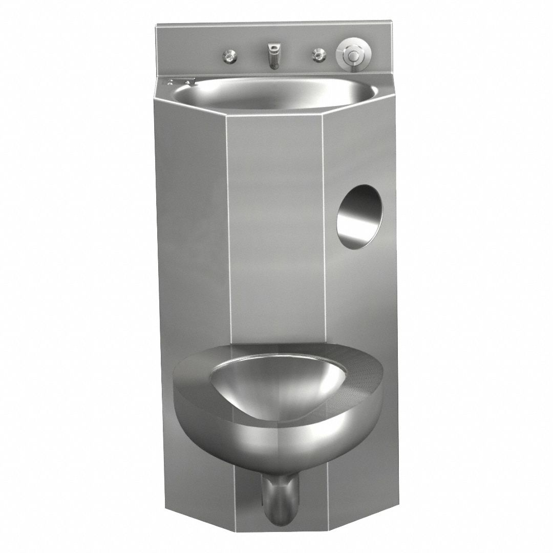 Prison Toilet And Sink Bination Unit