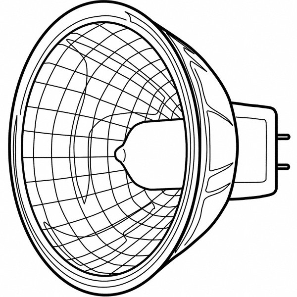 GE LIGHTING 20 Watts Halogen Lamp, MR16, 2-Pin (GU5.3