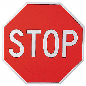 "Text Stop, Diamond Grade Aluminum Traffic Sign, Height 36"", Width 36"""