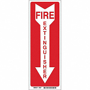 Fire Extinguisher Sign,14 x 3-1/2In,FEXT