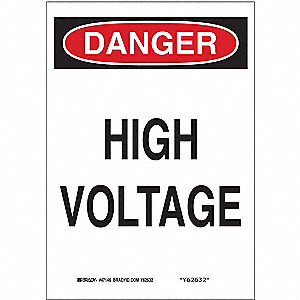 "Electrical Hazard, Danger, Plastic, 10"" x 7"", With Mounting Holes, Not Retroreflective"