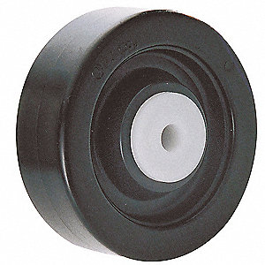"3-1/2"" Caster Wheel, 250 lb. Load Rating, Wheel Width 1-1/4"", Polyolefin, Fits Axle Dia. 3/8"""