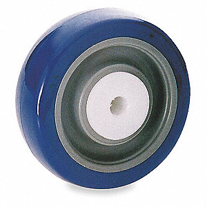 "4"" Caster Wheel, 275 lb. Load Rating, Wheel Width 1-1/4"", Polyurethane, Fits Axle Dia. 3/8"""