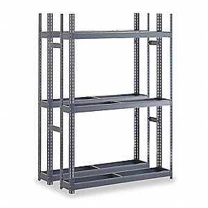"Steel Double Sided Boltless Tire Rack, Shelf Capacity 1000 lb., 84"" H  x 60"" W x  42"" D"