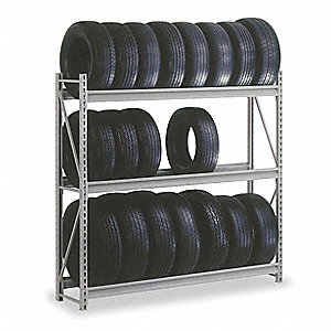 Tire Rack,Tire Cap 21,60Wx18Dx72 in. H