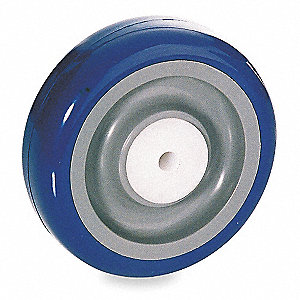 "4"" Caster Wheel, 198 lb. Load Rating, Wheel Width 1-1/4"", Polyurethane, Fits Axle Dia. 5/16"""