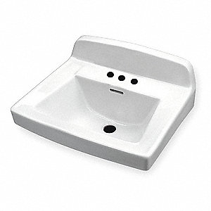 "Vitreous China Wall Bathroom Sink Without Faucet, 10"" x 15"" Bowl Size"