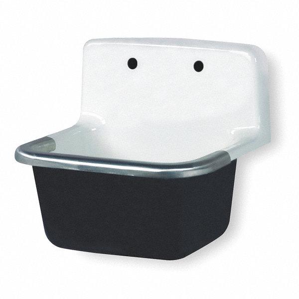 gerber wall mount utility sink 14 1 8 x 18 3 8 d shaped bowl white 1kbb9 12 918 grainger. Black Bedroom Furniture Sets. Home Design Ideas