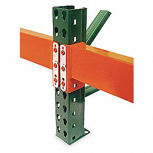 Steel Teardrop Pallet Rack Beam with 5569 lb. Load Capacity, Orange