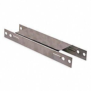 Steel Teardrop Pallet Rack Row Spacer, Gray