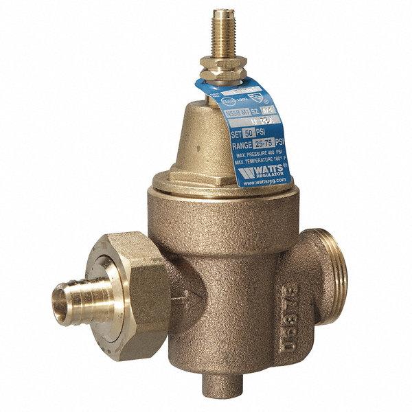 watts water pressure reducing valve standard valve type bronze 1 1 4 pipe size 1kbv2 11 4. Black Bedroom Furniture Sets. Home Design Ideas