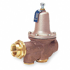 "Water Pressure Reducing Valve, Standard Valve Type, Bronze, 3/4"" Pipe Size"
