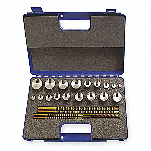 PRECISION KEYWAY BROACH SET,#40 MET
