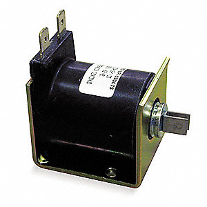 "Solenoid, 24VDC Coil Volts, Stroke Range: 1/8"" to 3/8"", Duty Cycle: Continuous"