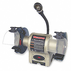 "1/3 HP Bench Grinder, 120 Voltage, 1 Phase, 2.1 Amps, 6"" Wheel Dia."