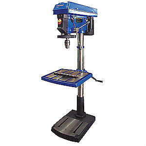 "1 Motor HP Floor Drill Press, Belt Drive Type, 20"" Swing, 120 Voltage"