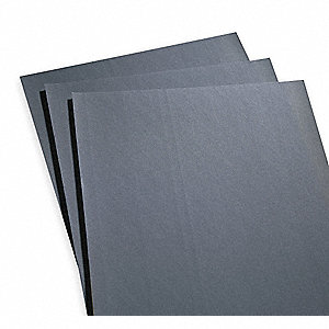 "Very Fine Silicon Carbide Sanding Sheet, 240 Grit, 11"" L X 9"" W, Backing Weight : A, 50 PK"