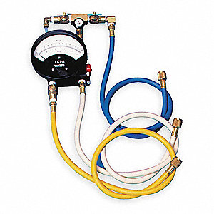 Backflow Preventer Test Kit, 3 Valve, Includes: Analog Test Gauge, (3)Test Valves, (9) Hose Adapters