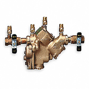 Reduced Pressure Zone Backflow Preventer, Bronze, Watts 909 Series, FNPT Connection