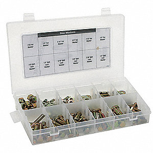 Cap Screw Assortment,Hex,Hex Dr,80 Pc