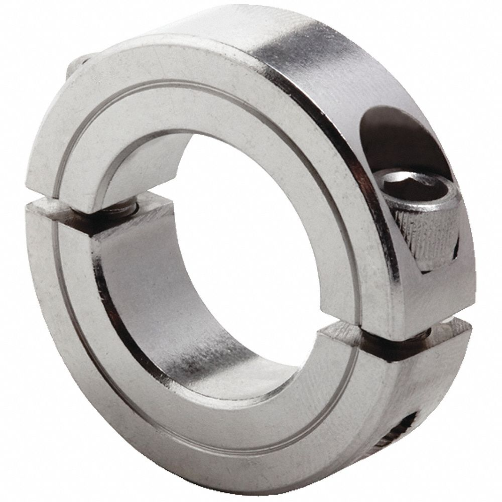 """zinc plated. X 1 1//4/"""" O.D Shaft collar 3//4/"""" I.D"""