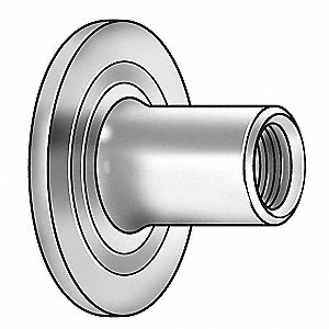 Steel Weld Nut with 1/4-20 Thread Size and Plain Finish&#x3b; PK100