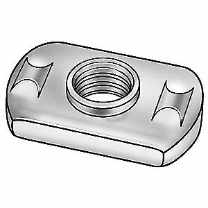 Steel Weld Nut with M6 x 1.0 Thread Size and Plain Finish&#x3b; PK50