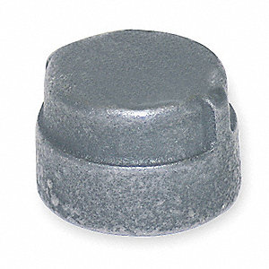 Cap,Galv Malleable Iron,300 PSI,1 1/4 In