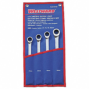 RATCHETING WRENCH SET,METRIC,12 PT.