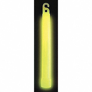 "Yellow Lightstick, 6"" Length, 12 hr. Duration"
