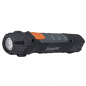 Industrial LED Handheld Flashlight, Plastic, Maximum Lumens Output: 250, Black