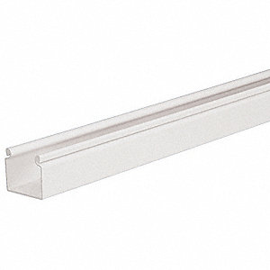 "Wiring Duct for Hinged Covers, White, 6 ft. Length, 3.25"" Width"