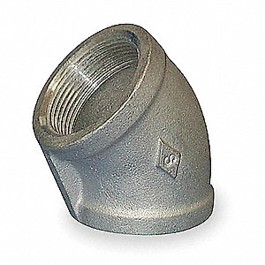 "304 Stainless Steel Elbow, 45°, FNPT, 1"" Pipe Size - Pipe Fitting"