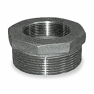 "304 Stainless Steel Hex Bushing, MNPT x FNPT, 1/2"" x 3/8"" Pipe Size"