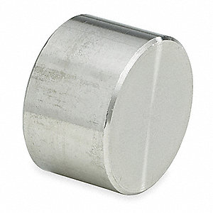 "304 Stainless Steel Cap, Socket Weld, 1-1/2"" Pipe Size - Pipe Fitting"