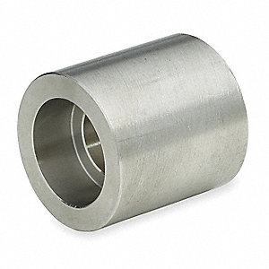 "304 Stainless Steel Reducing Coupling, Socket Weld, 1-1/4"" x 1"" Pipe Size - Pipe Fitting"