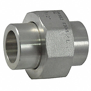 "316 Stainless Steel Union, Socket Weld, 1"" Pipe Size - Pipe Fitting"