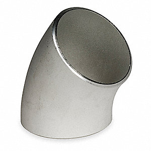 "316L Stainless Steel Long Radius Elbow, 45°, 3"" Pipe Size - Pipe Fitting, Schedule 40 Fitting Schedu"
