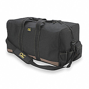 "3-Pocket Polyester General Purpose Tool Bag, 12""H x 24""W x 12""D, Black"