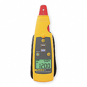 "Clamp On Digital Clamp Meter, 14° to 122°F Temp. Range, 1/4"" Jaw Capacity, CAT II 300V"