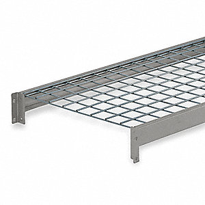 "72"" x 36"" Additional Shelf Level, Silver&#x3b; For Use With Bulk Storage Rack"